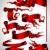 Rood · ingesteld · felicitatie · verschillend · kunst - stockfoto © kjolak