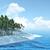 palmboom · blauwe · hemel · witte · wolken · vakantie · natuur - stockfoto © kjpargeter