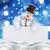 sneeuwpop · grappig · weinig · sneeuw - stockfoto © kjpargeter