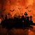グランジ · ハロウィン · スタイル · テクスチャ · 墓 · バット - ストックフォト © kjpargeter