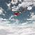 mikulás · égbolt · hó · hold · éjszaka · csillag - stock fotó © kjpargeter