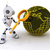 robô · lupa · 3d · render · futuro · pesquisar - foto stock © kjpargeter