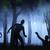 3D · туманный · лес · пейзаж · закат - Сток-фото © kjpargeter