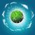 szélturbina · napsütés · tiszta · energia · kék · ég · fű · technológia - stock fotó © kjpargeter