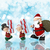 christmas background with santa and his helpers stock photo © kjpargeter