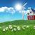 家 · 風力タービン · 3dのレンダリング · 実例 · 建物 · 緑 - ストックフォト © kjpargeter