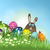 easter bunny in grass with eggs stock photo © kjpargeter