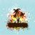grunge · pálmafák · fa · tavasz · háttér · sziluett - stock fotó © kjpargeter