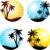 пальмами · тень · изолированный · белый · природы · лист - Сток-фото © kjpargeter