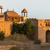 Fortified gate at Nagaur's fort in Rajasthan during sunset. stock photo © Klodien