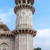 Marble minaret of Agra's Baby Taj mausoleum in India. stock photo © Klodien