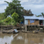 Small boats dock at a shack on stilts in the jungle. stock photo © Klodien
