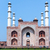 Landscape picture of Akbar's Tomb and its four minarets in India stock photo © Klodien