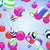 abstract flying balls of different colours background stock photo © klss