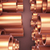 polished copper pipes stock photo © klss