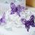 свадебный · торт · белый · Purple · бабочка · украшение - Сток-фото © KMWPhotography
