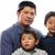 baba · kucaklamak · Asya · iki · sevmek · mutlu - stok fotoğraf © KMWPhotography