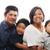 Asya · aile · birlikte · bakıyor · mutlu · çocuklar - stok fotoğraf © KMWPhotography