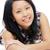 gülen · Asya · bayan · bakıyor · mutlu · doğal - stok fotoğraf © KMWPhotography