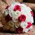 novias · ramo · rojo · blanco · rosas · primer · plano - foto stock © KMWPhotography