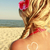 heart of the cream on the female back on the beach stock photo © koca777