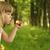 kleines · Mädchen · Seifenblasen · Mädchen · Frühling · Kinder · Gras - stock foto © koca777