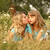 moeder · weinig · dochter · gras · liggen · vrouwen - stockfoto © koca777