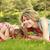 mamá · pequeño · hija · mentir · hierba · mujer - foto stock © koca777