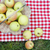 green apples in a basket on the grass stock photo © koca777