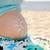 妊婦 · ビーチ · 幸せ · 笑みを浮かべて · 海 · 少女 - ストックフォト © koca777