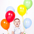 baby · jongen · ballonnen · zoete · vergadering · vloer - stockfoto © kokimk