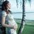mooie · zwangere · dame · maag · zwangere · vrouw · vrouw - stockfoto © konradbak