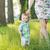 cheerful kid holding moms hand stock photo © konradbak