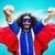 面白い · 肖像 · スーパーヒーロー · ファッション · デザイン · フィットネス - ストックフォト © konradbak