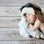 cute · mały · chłopca · snem · okulary · ochronne · pilota - zdjęcia stock © konradbak
