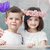 charming little children posing together stock photo © konradbak