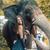 pretty smailing elephant trainer with her pet stock photo © konradbak