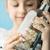 speelgoed · schip · fles · glimlach · zomer · tanden - stockfoto © konradbak