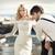 jonge · mooie · huwelijk · paar · exotisch · plaats - stockfoto © konradbak