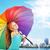 güzel · küçük · kız · şemsiye · açık · havada · yüz · mutlu - stok fotoğraf © konradbak