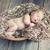 újszülött · baba · alszik · pléd · portré · arc - stock fotó © konradbak