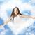 nuage · ciel · ciel · bleu · amour · soleil · coeur - photo stock © konradbak