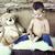 時間 · を読む · 美人 · ベッド · 読む · 図書 - ストックフォト © konradbak