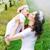 happy mother kissing her little princess stock photo © konradbak