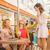 laughing female friends in the shopping mall cafe stock photo © konradbak