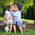 fiatal · család · csók · kert · jóképű · fickó - stock fotó © konradbak