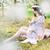anya · etetés · kicsi · lánygyermek · nő · lány - stock fotó © konradbak
