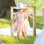 two little girls holding a painting frame stock photo © konradbak