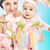jungen · Mutter · tragen · cute · wenig · Tochter - stock foto © konradbak