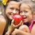 kicsi · piros · zöld · alma · közelkép · almafa - stock fotó © konradbak